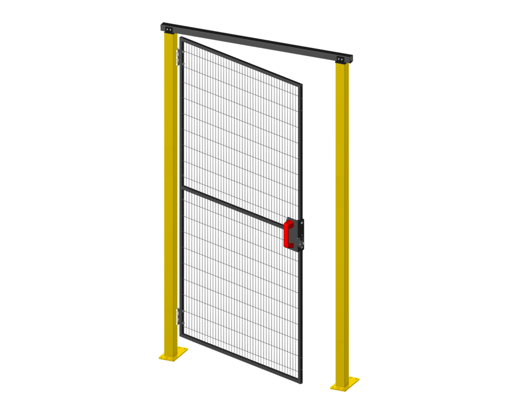 Satech Machine Guards - Hinged Doors - Opening generated by hinges and door stop