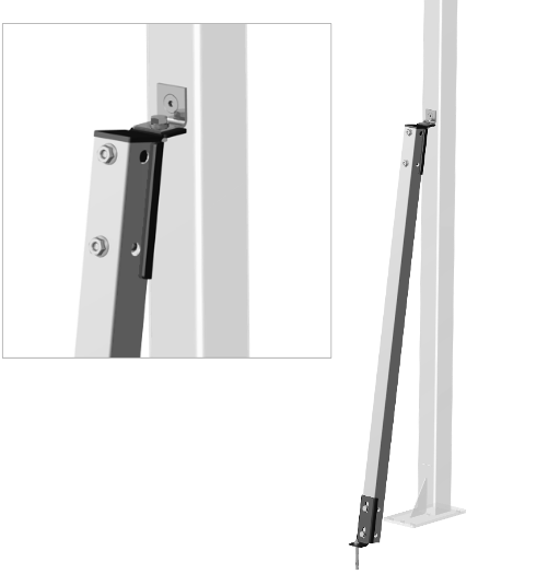 Satech Machine Guards Accessories - Posts Wind Bracing