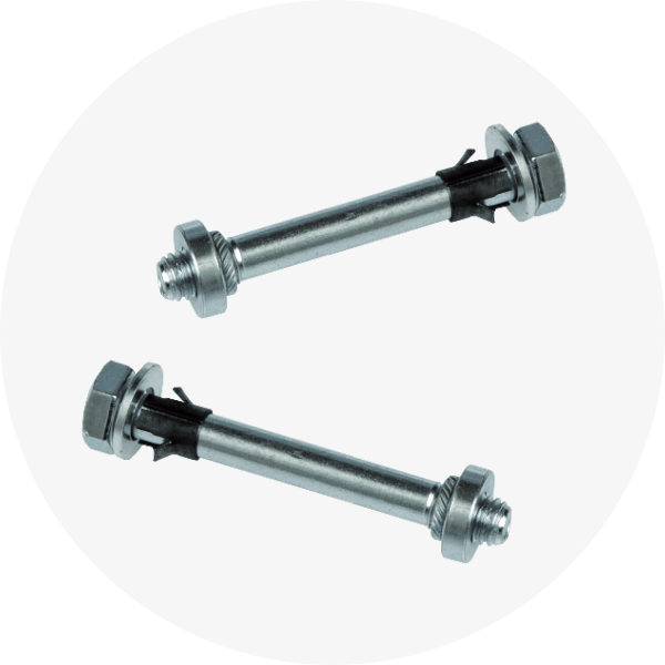 FastGuard's upper connection between panels is provided either by an elastic shaped steel joint or by captive retained nuts and bolts.